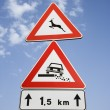 Rural Road Signs in Europe — Stock Photo