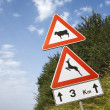 Signs on a Rural Road in Italy — Foto de Stock