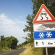 Stock Photo: Signs on Rural Road in Italy