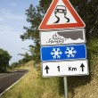 Signs on a Rural Road in Italy — Stock Photo