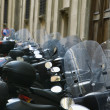 Row of motorcycles. — Stock Photo