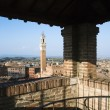 Siena Skyline Viewed From Covered Rooftop - Stock Photo