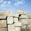 Travertine stone blocks. — Stock Photo #9497096