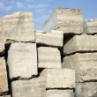 Travertine stone. - Stock Photo