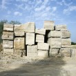 Stock Photo: Travertine stone.