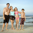 Happy smiling family on beach. — Stock Photo #9498108