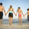 Family at the Beach — Stock Photo #9498109