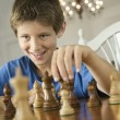 Boy playing chess. — Stock Photo