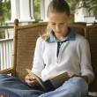 Young Girl Reading Book — Stock Photo