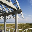 View of Beach from Arbor Deck — Stock Photo