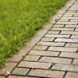 Red Brick Walkway — Stock Photo