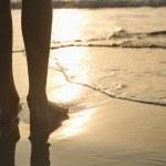 Feet in sand. — Stock Photo