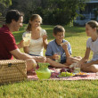 Family having picnic. — Stock Photo