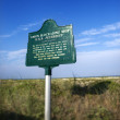 Stock Photo: Historical marker.