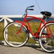 Foto de Stock  : Bicycle at beach.
