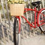 Bike at beach. — Stock Photo