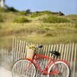 Bike at beach. — Stock Photo