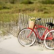 Bicycle at beach. — Stock Photo