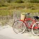Bicycle at beach. — Stock Photo