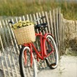 Bike on beach. — Stock Photo