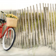 Stock Photo: Bike at beach.