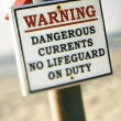 Current warning sign. — Stock Photo