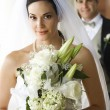 Portrait of bride and groom. — Stock Photo #9499115