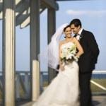 Bride and groom portrait. — Stock Photo