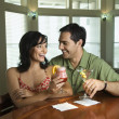 Stock Photo: Couple Having Drinks