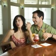 Couple Having Drinks — 图库照片