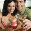 Couple Having Drinks — Stock Photo #9499218