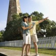 Stock Photo: Couple sightseeing.