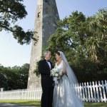 panna młoda i pan młody portret ślub — Zdjęcie stockowe