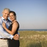 Portrait of Couple on Beach — Stock Photo