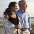 Stock Photo: Couple at beach.