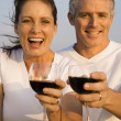Couple Drinking Wine — Stock Photo #9499819