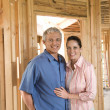 Couple Building Home — Stock Photo #9499845