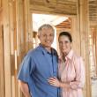 Couple Building Home — Stock Photo
