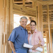 Couple Building Home — Stock Photo #9499846