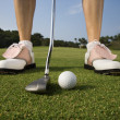 Female Golfer Putting — Stock Photo