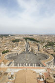 St Peter's Square and Vatican City — Zdjęcie stockowe