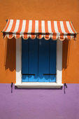Colorful Window with Awning — Stock Photo