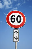 European Speed Limit Sign — Stock Photo