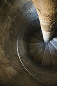 Spiral stone staircase. — Stock Photo