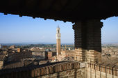 Siena Skyline Viewed From Covered Rooftop — Stock Photo