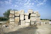 Travertine stone. — Stock Photo