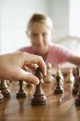 Schackspel. — Stockfoto