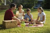 Family having picnic. — Stock Photo
