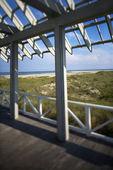 Beachfront deck. — Stock Photo