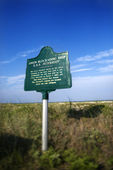 Historical marker. — Stock Photo